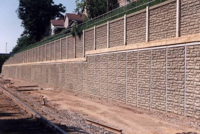 hamilton rail cut retaining wall
