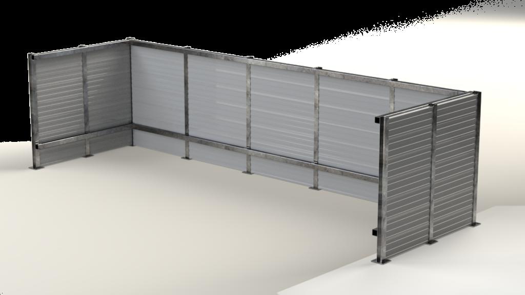 Aluminum Rooftop Screen